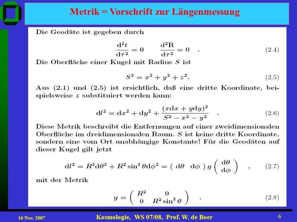Metrik = Vorschrift zur Längenmessung