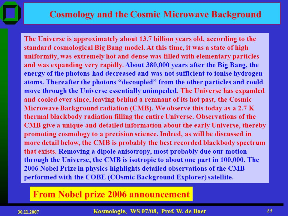 Cosmology and the Cosmic Microwave Background