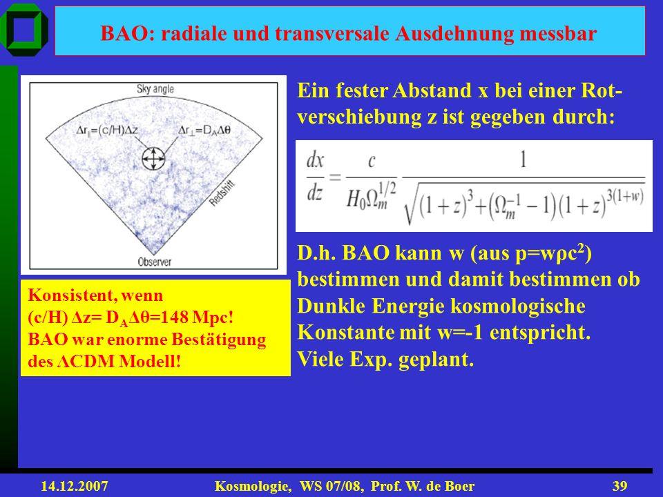 BAO: radiale und transversale Ausdehnung messbar