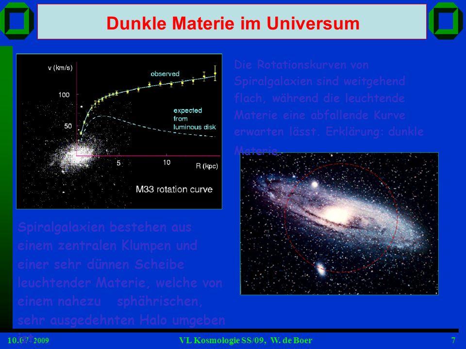 Dunkle Materie im Universum
