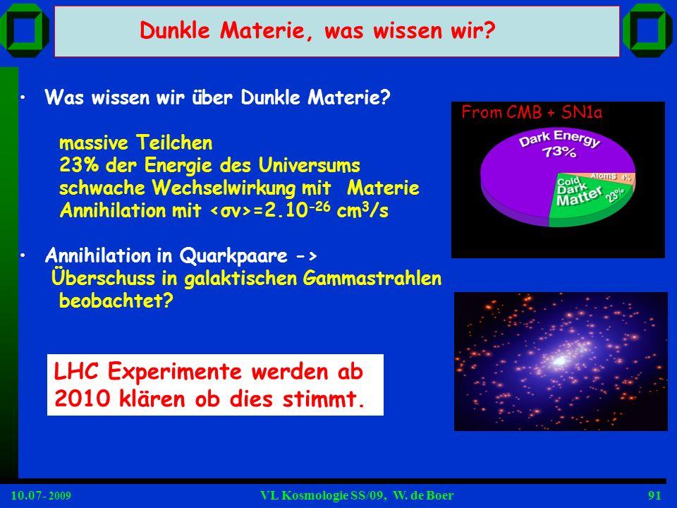 Dunkle Materie, was wissen wir