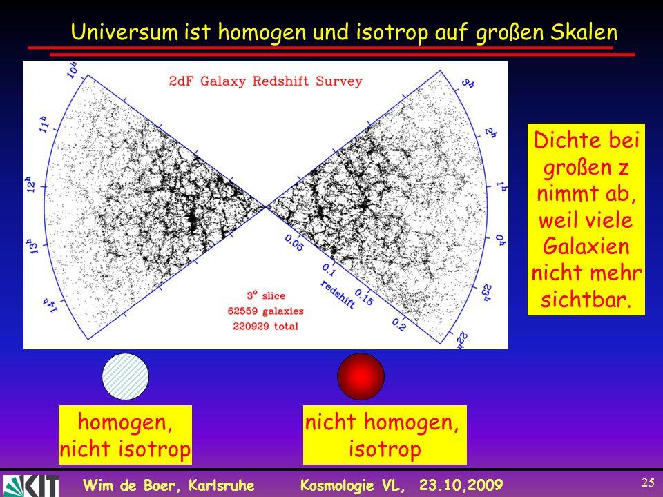 Universum ist homogen und isotrop auf großen Skalen