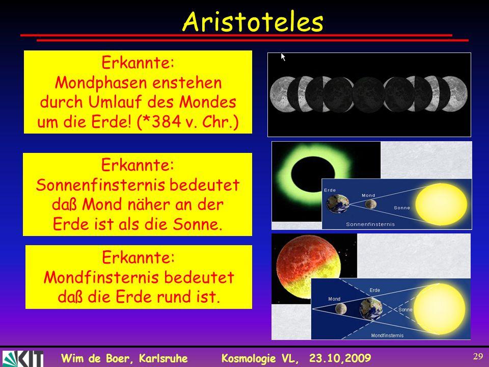 Aristoteles Erkannte: Mondphasen enstehen durch Umlauf des Mondes