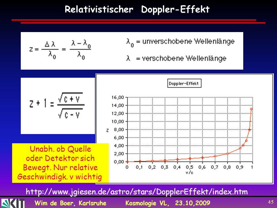 Relativistischer Doppler-Effekt