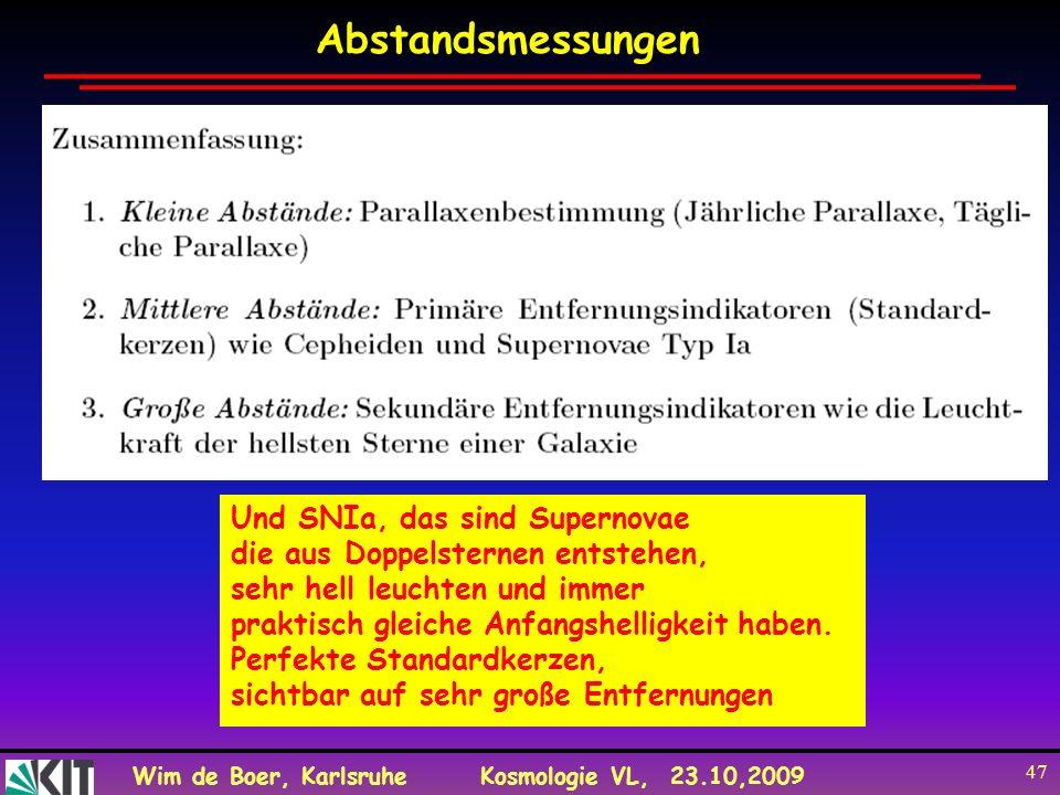 Abstandsmessungen Und SNIa, das sind Supernovae