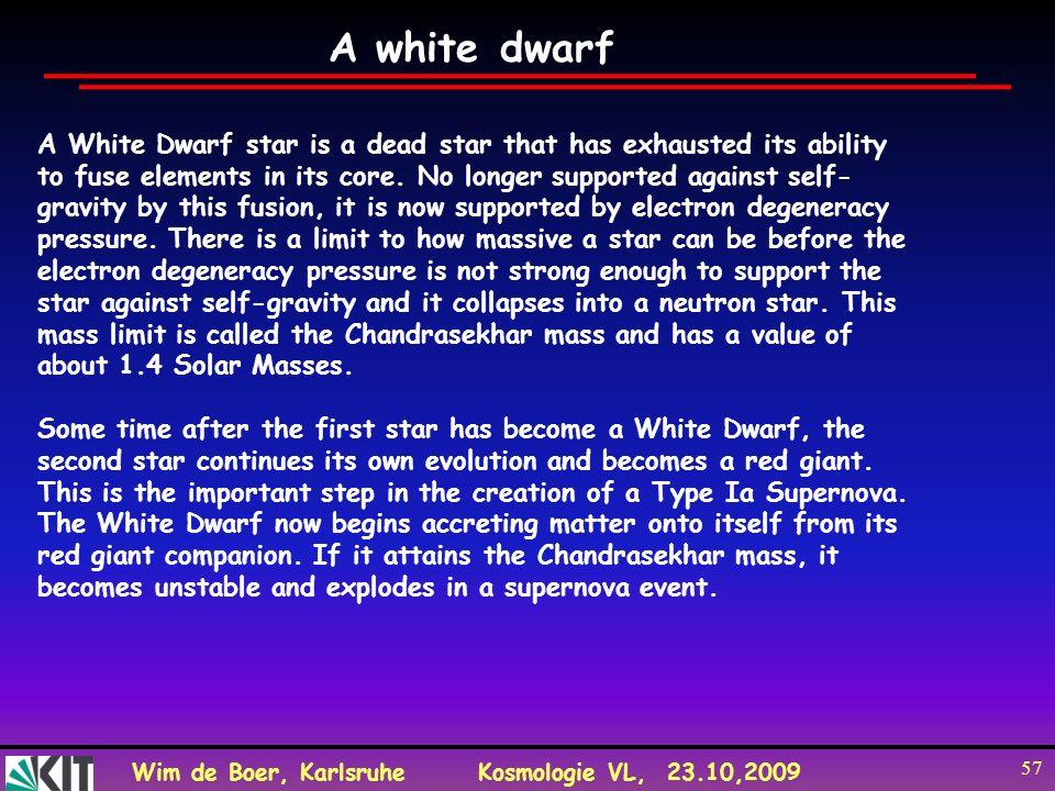 A white dwarf