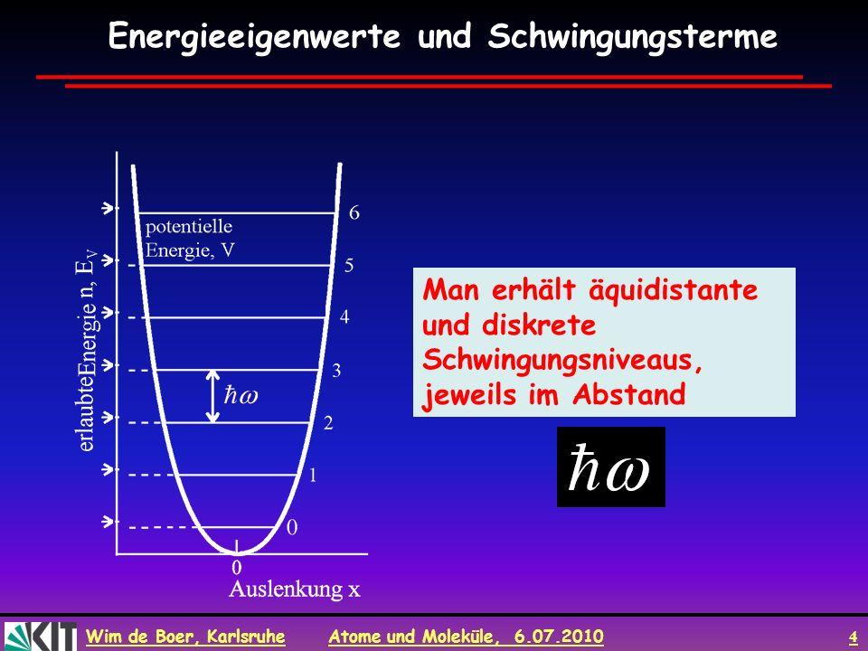 Energieeigenwerte und Schwingungsterme
