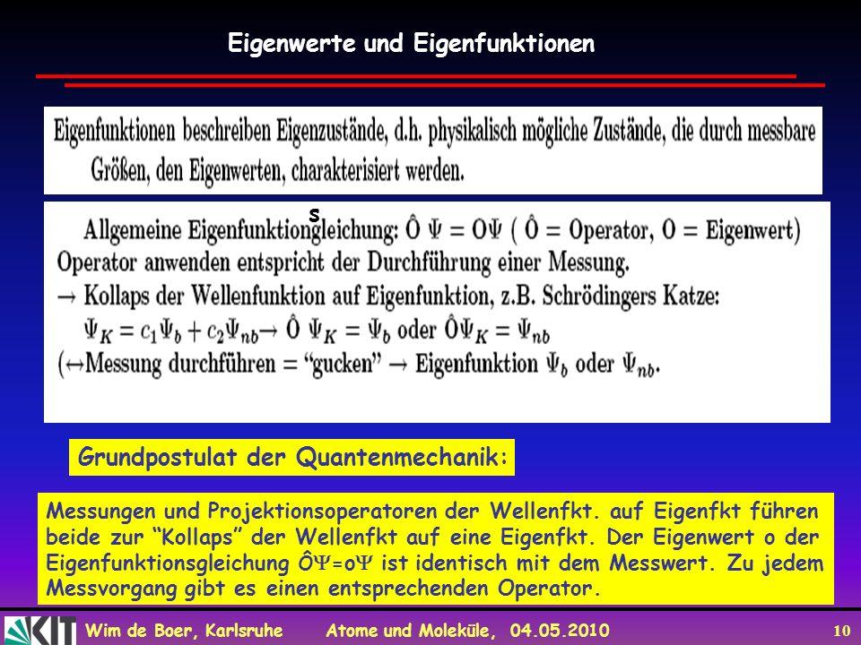 Eigenwerte und Eigenfunktionen