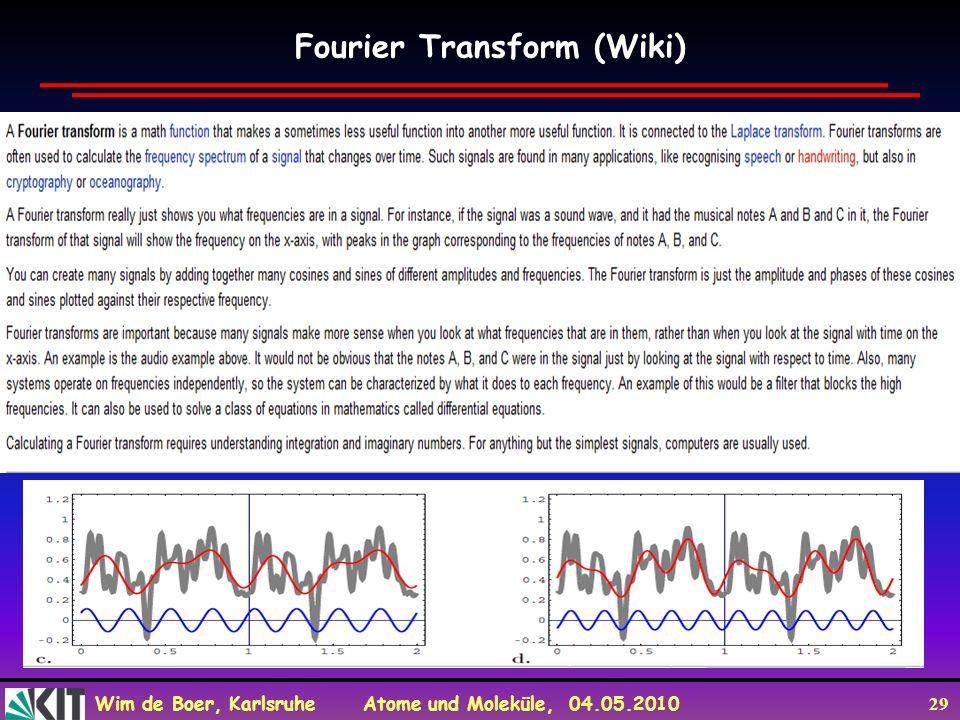 Fourier Transform (Wiki)