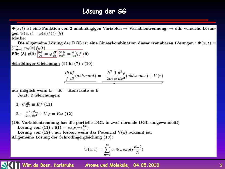 Lösung der SG f f x -