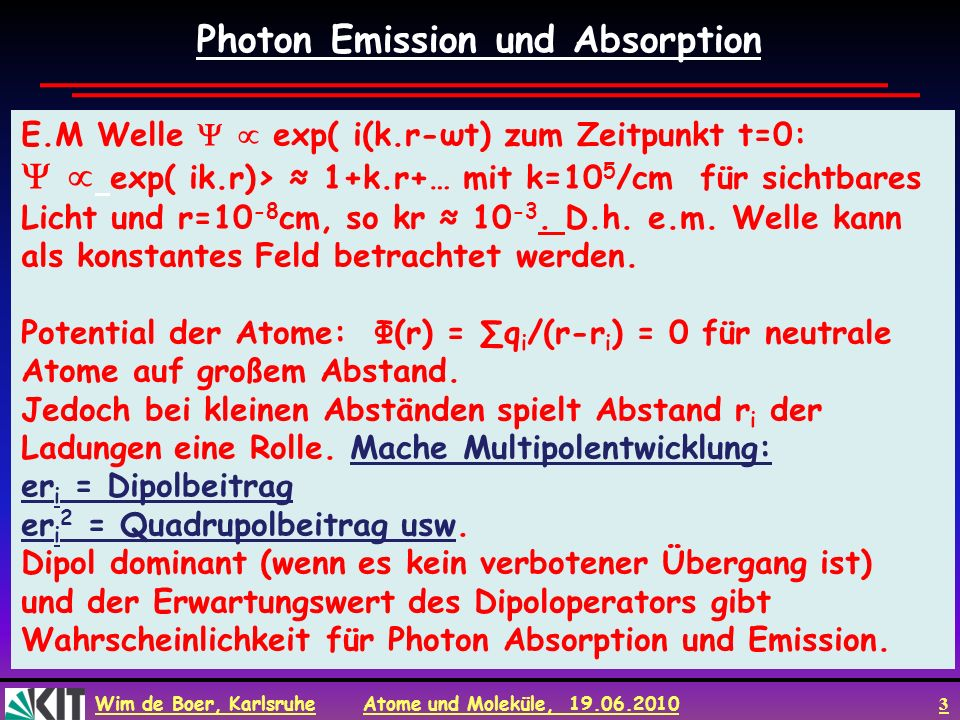 Photon Emission und Absorption
