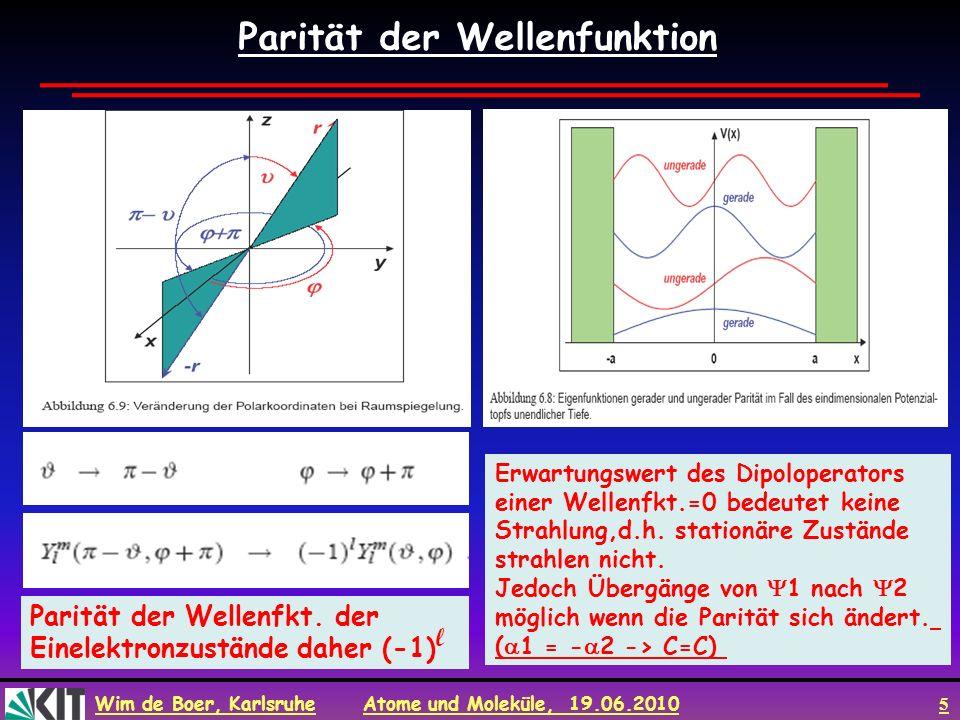 Parität der Wellenfunktion