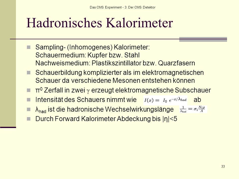 Hadronisches Kalorimeter