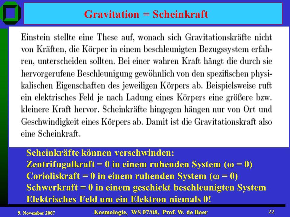 Gravitation = Scheinkraft