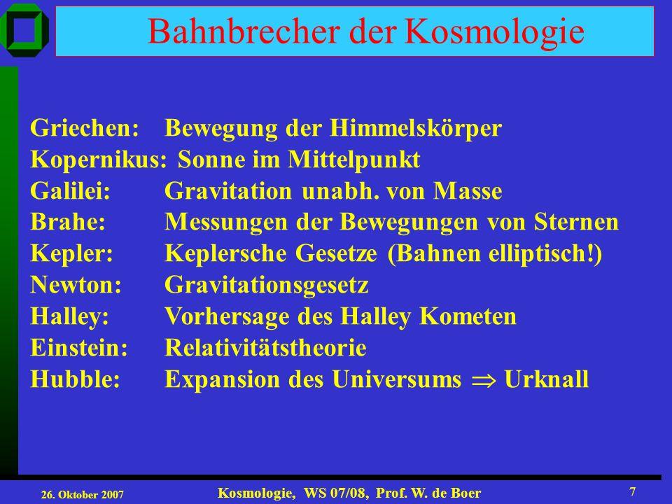 Bahnbrecher der Kosmologie