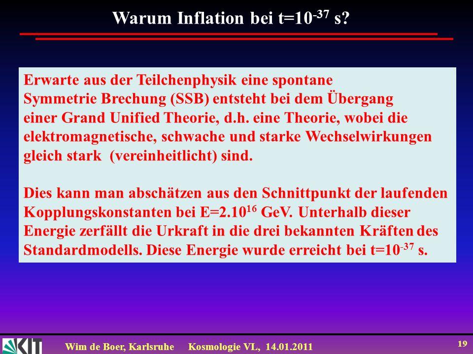Warum Inflation bei t=10-37 s