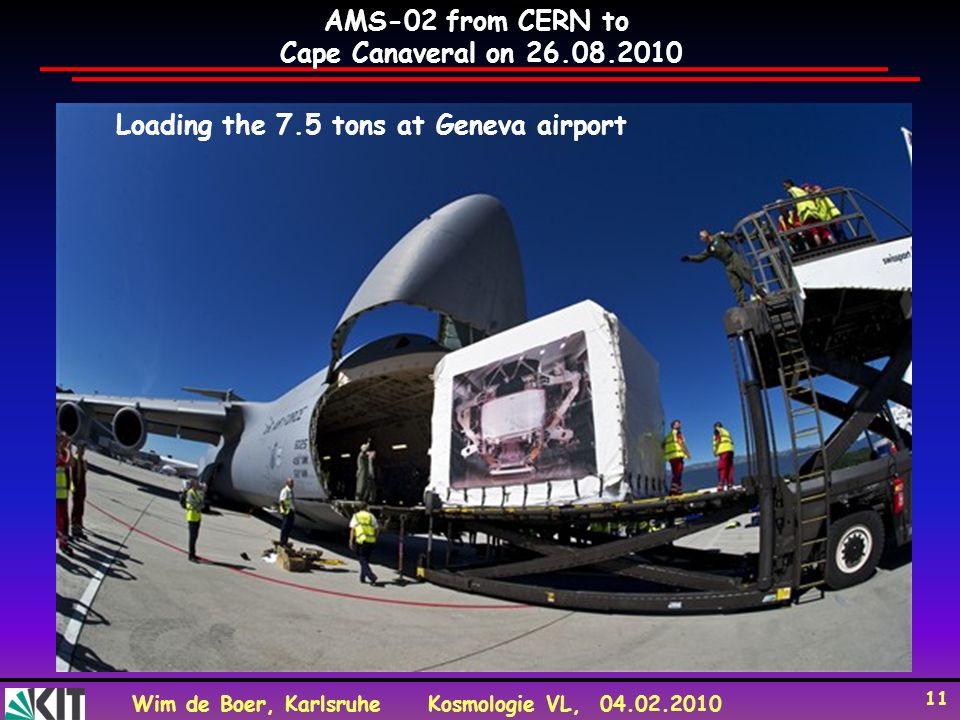 Loading the 7.5 tons at Geneva airport