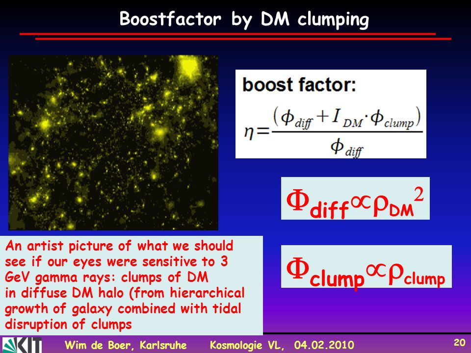 diffDM clumpclump Boostfactor by DM clumping