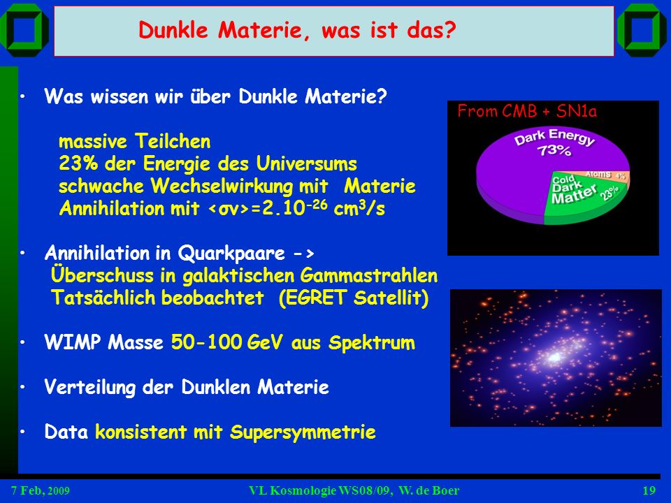 Dunkle Materie, was ist das