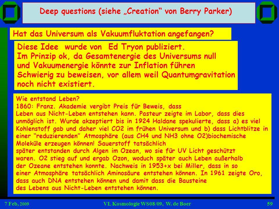 """Deep questions (siehe """"Creation von Berry Parker)"""