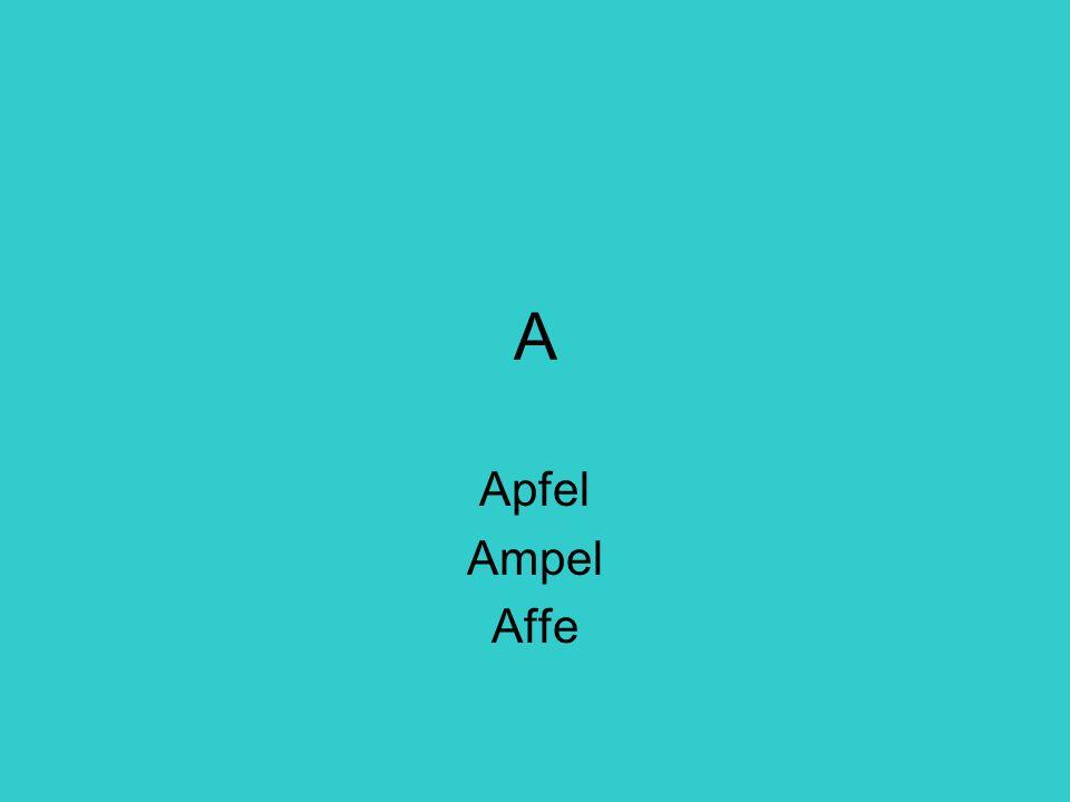 A Apfel Ampel Affe