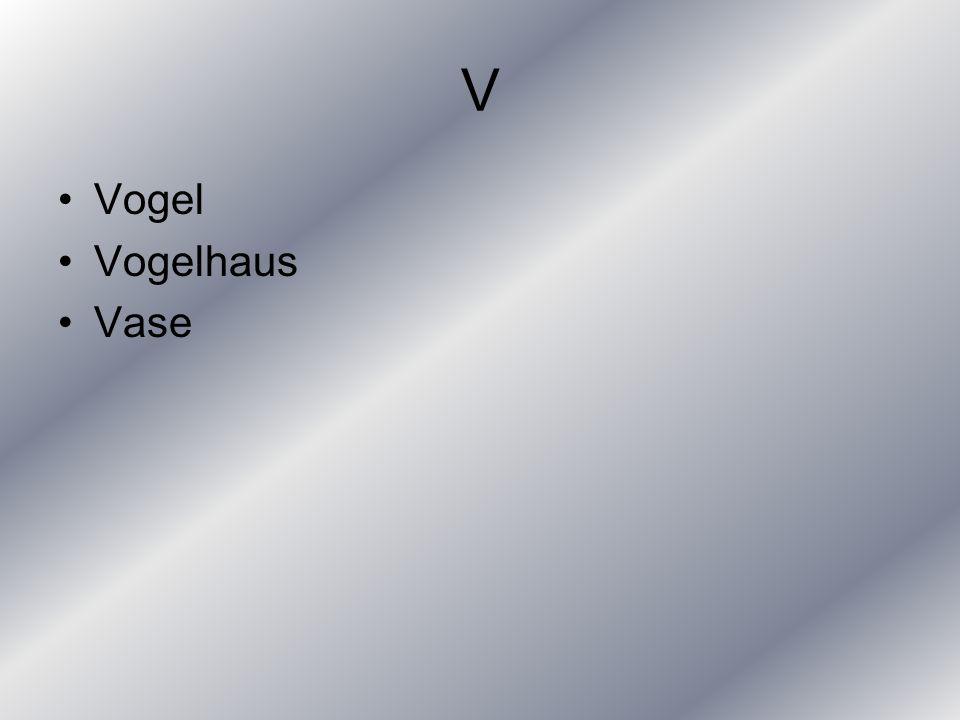 V Vogel Vogelhaus Vase