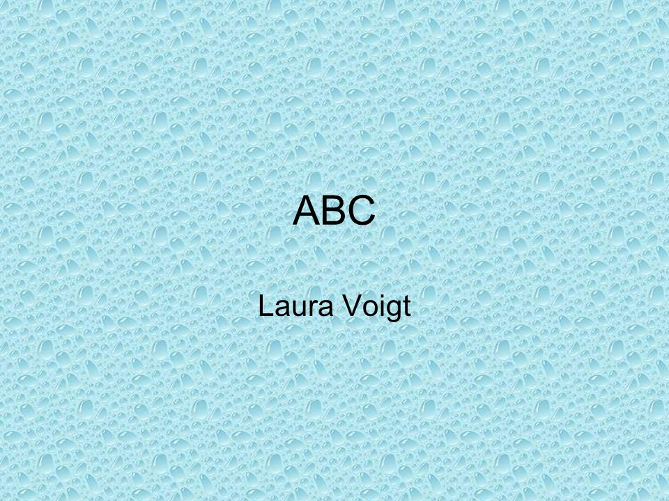 ABC Laura Voigt