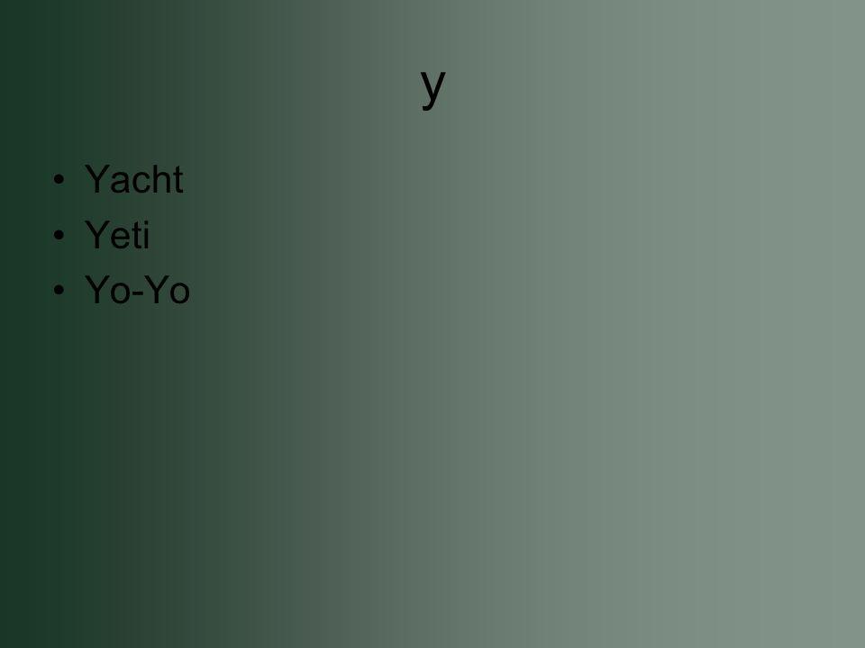 y Yacht Yeti Yo-Yo