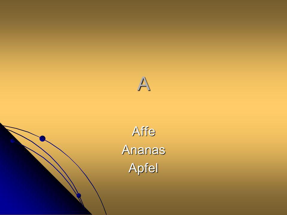 A Affe Ananas Apfel