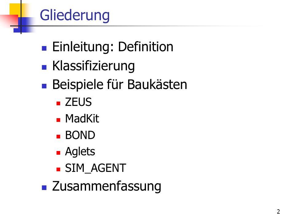 Gliederung Einleitung: Definition Klassifizierung