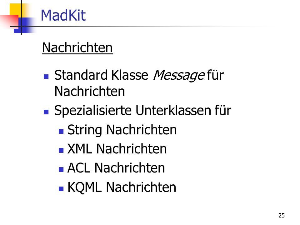 MadKit Nachrichten Standard Klasse Message für Nachrichten