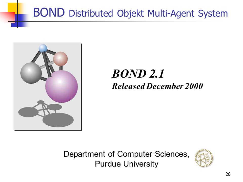 BOND Distributed Objekt Multi-Agent System