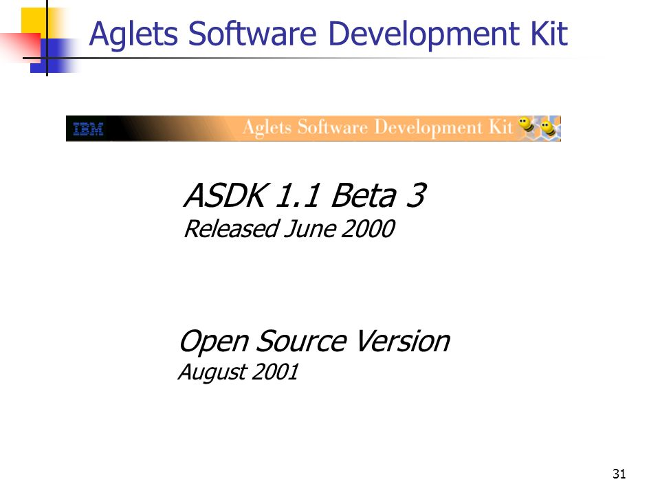 Aglets Software Development Kit
