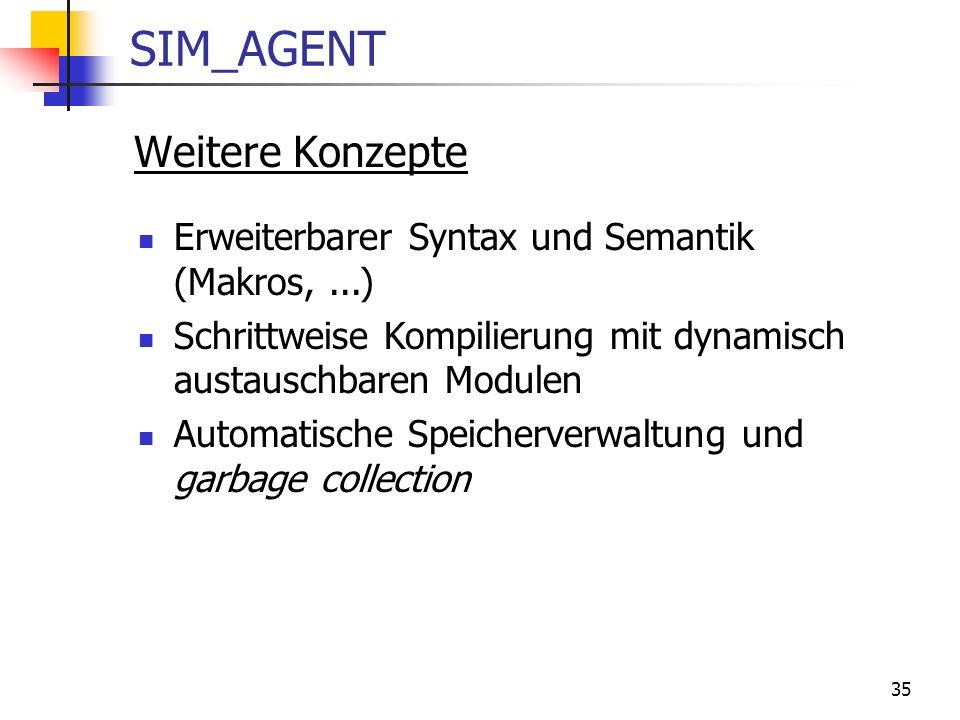 SIM_AGENT Weitere Konzepte