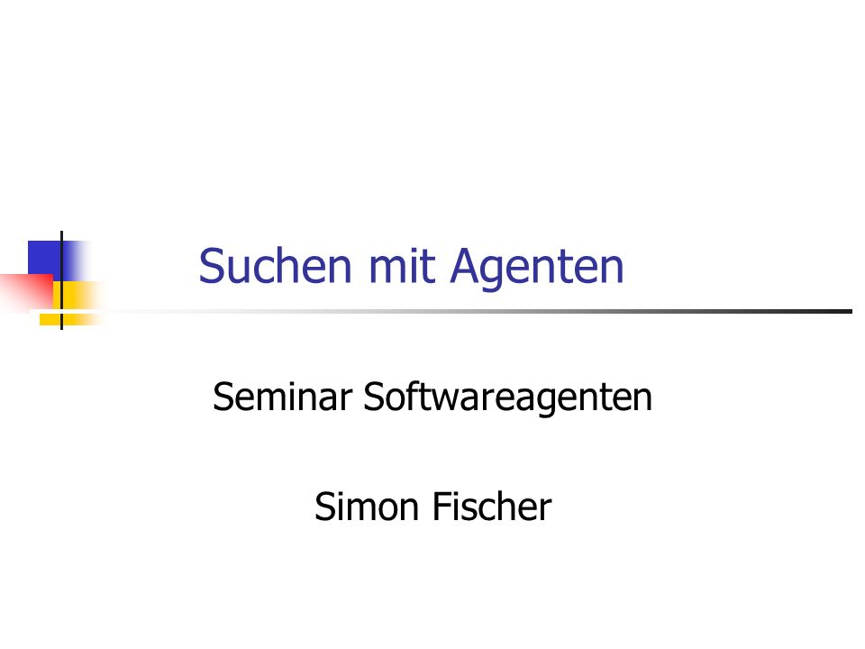 Seminar Softwareagenten