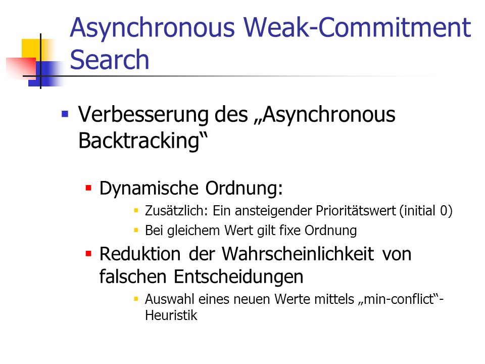 Asynchronous Weak-Commitment Search
