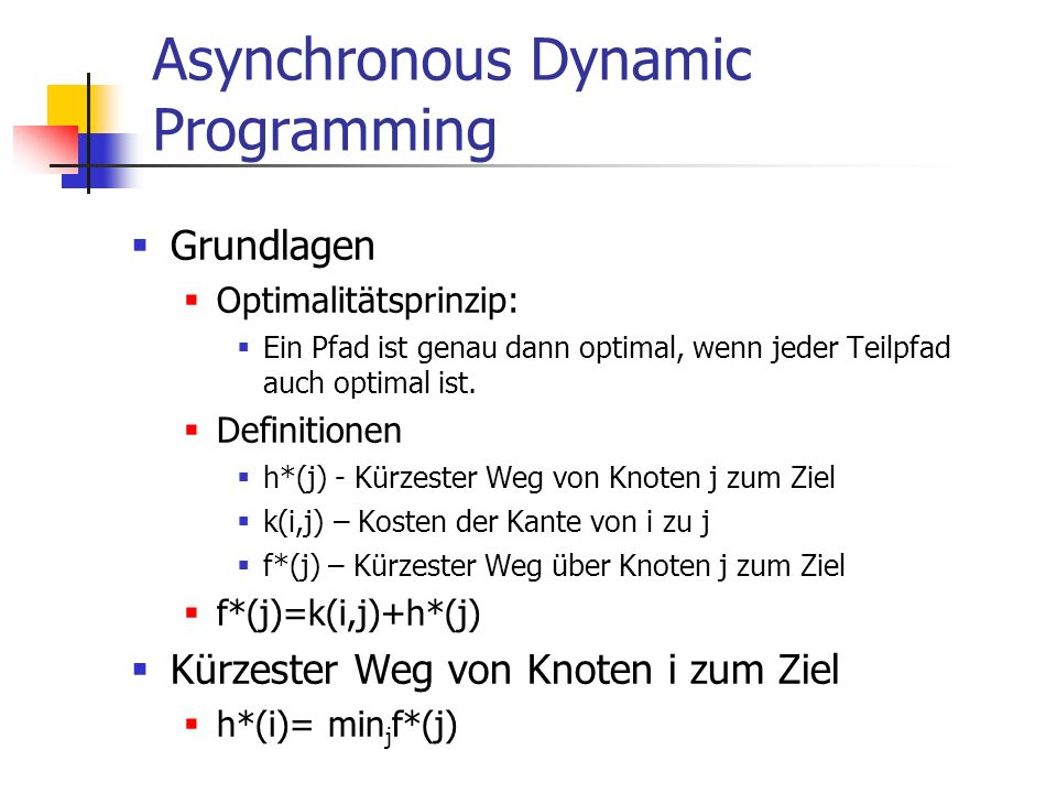 Asynchronous Dynamic Programming