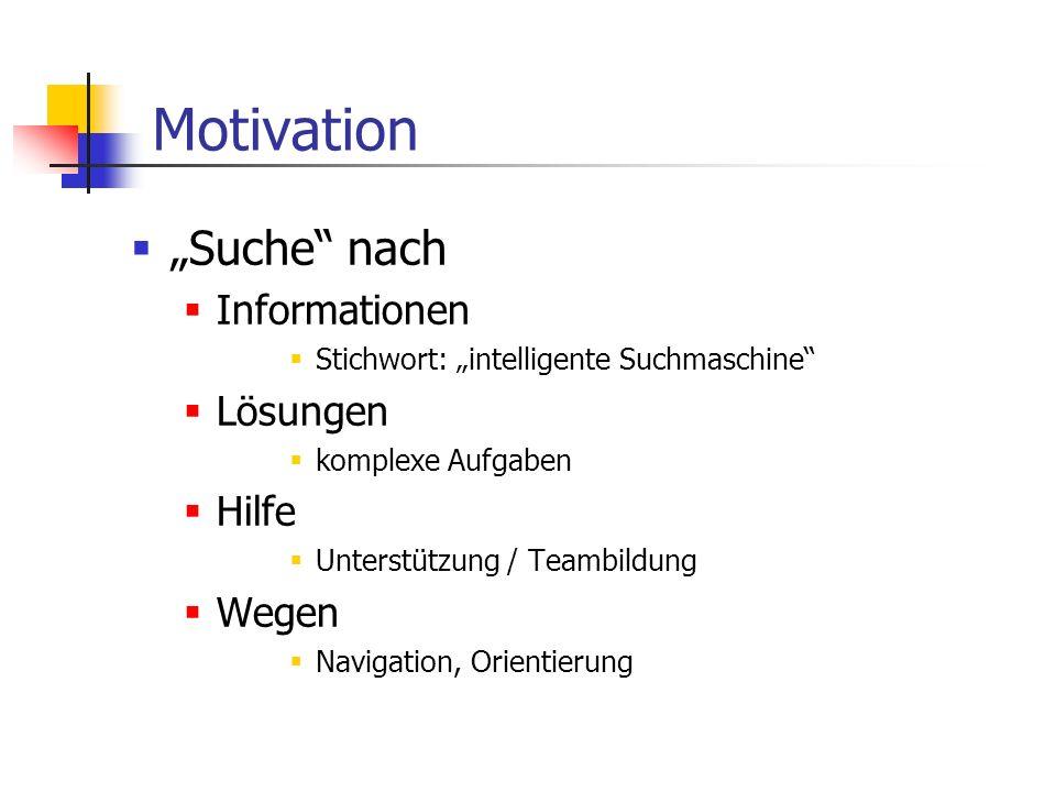 """Motivation """"Suche nach Informationen Lösungen Hilfe Wegen"""