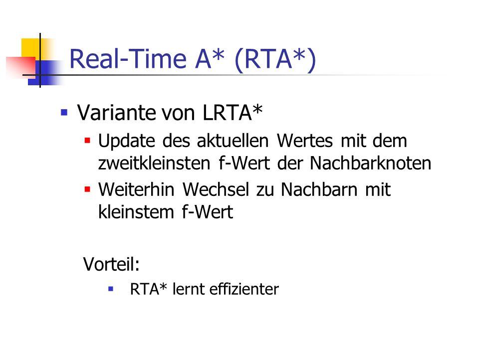 Real-Time A* (RTA*) Variante von LRTA*