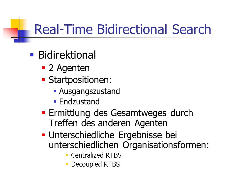Real-Time Bidirectional Search
