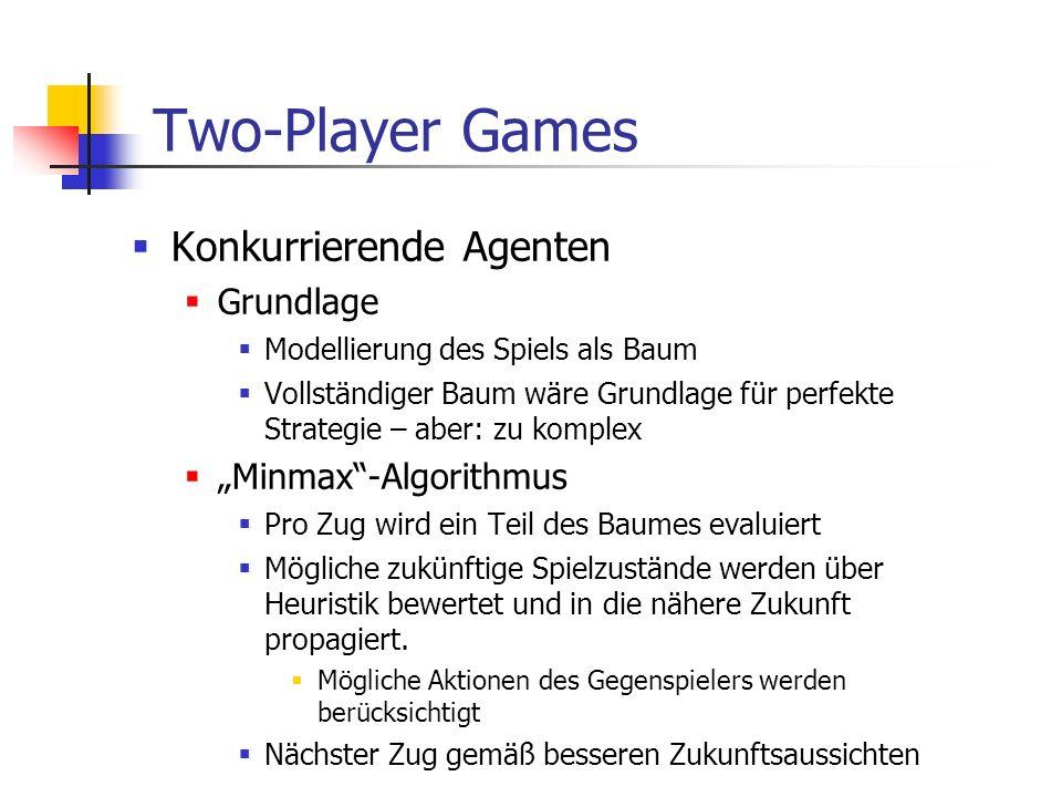 """Two-Player Games Konkurrierende Agenten Grundlage """"Minmax -Algorithmus"""