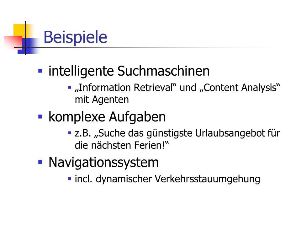 Beispiele intelligente Suchmaschinen komplexe Aufgaben