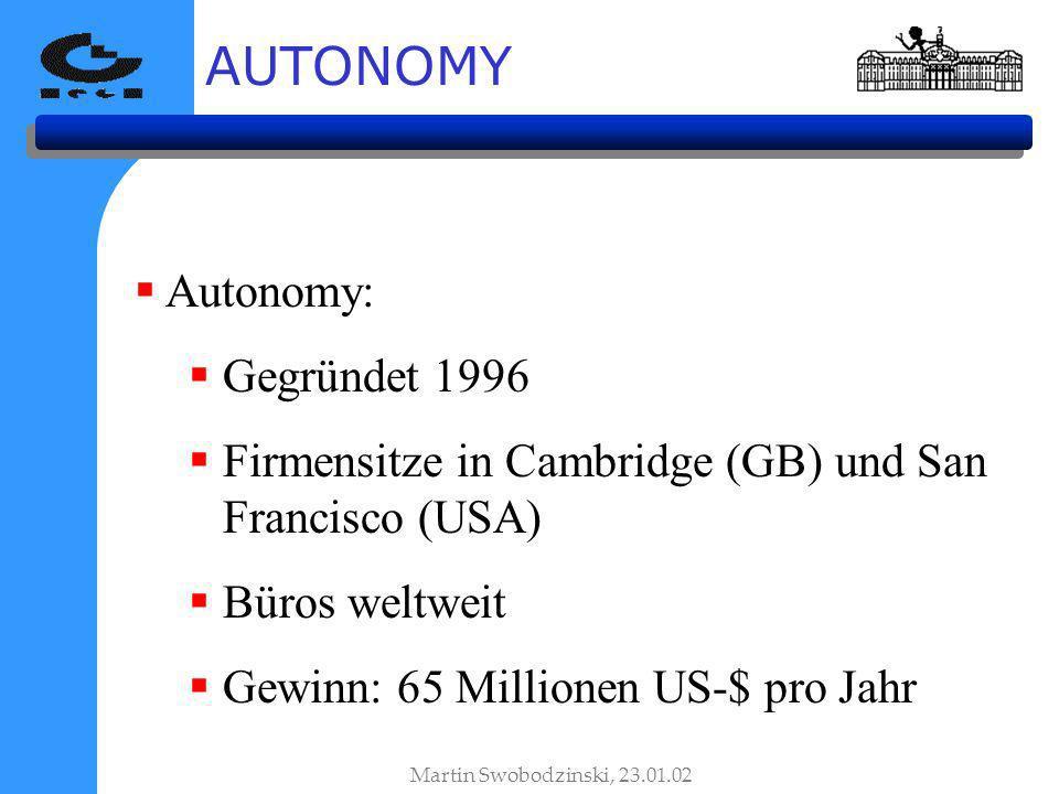 AUTONOMY Autonomy: Gegründet 1996