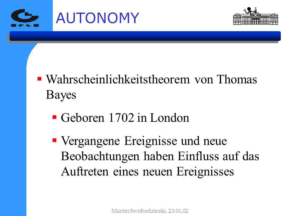 AUTONOMY Wahrscheinlichkeitstheorem von Thomas Bayes