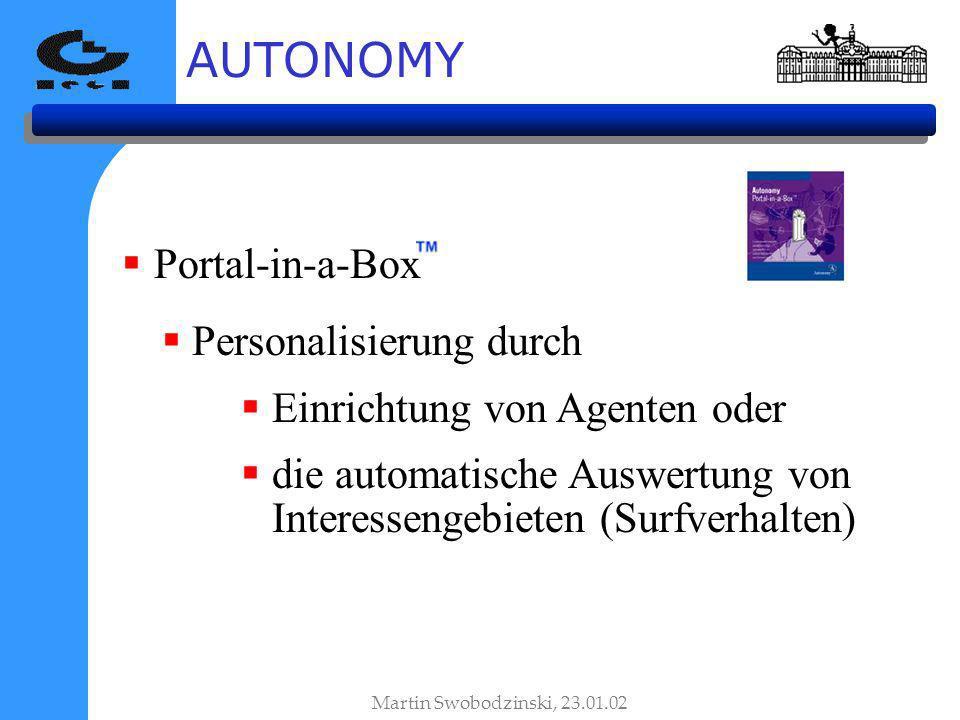 AUTONOMY Portal-in-a-Box Personalisierung durch