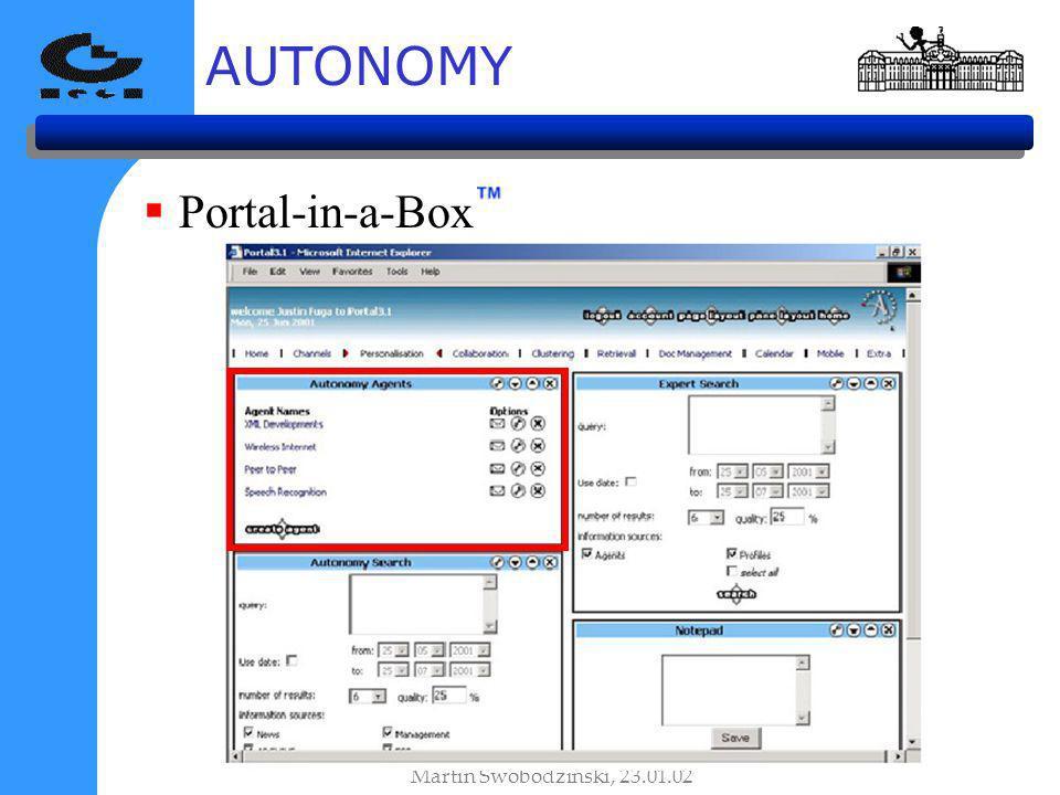 AUTONOMY Portal-in-a-Box Martin Swobodzinski, 23.01.02