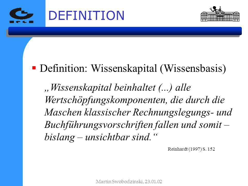 DEFINITION Definition: Wissenskapital (Wissensbasis)
