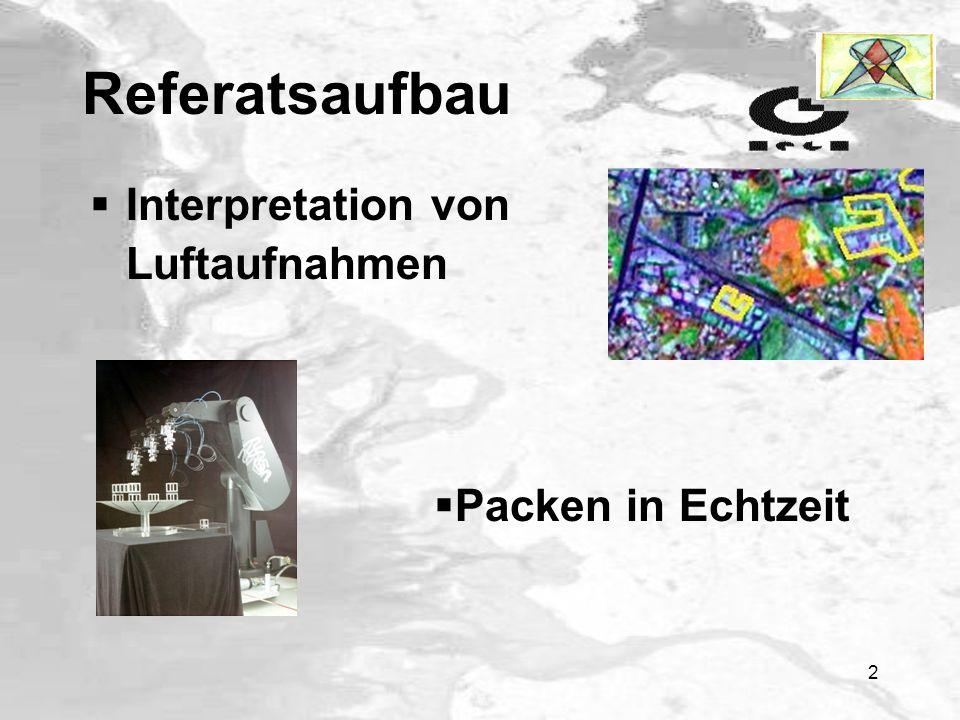 Referatsaufbau Interpretation von Luftaufnahmen Packen in Echtzeit