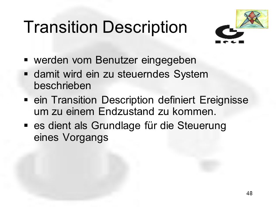 Transition Description