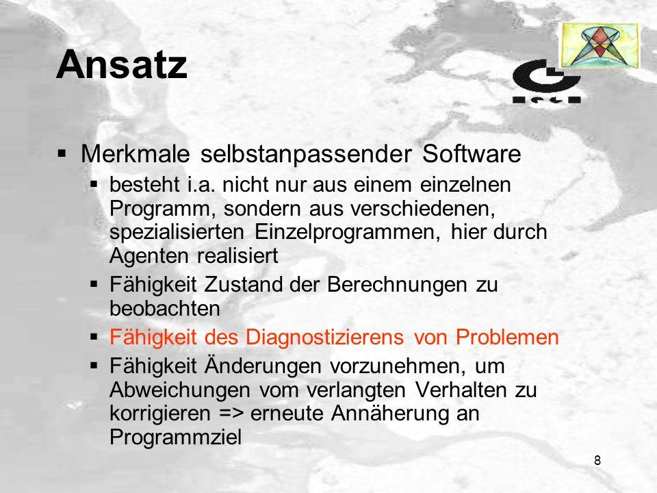 Ansatz Merkmale selbstanpassender Software